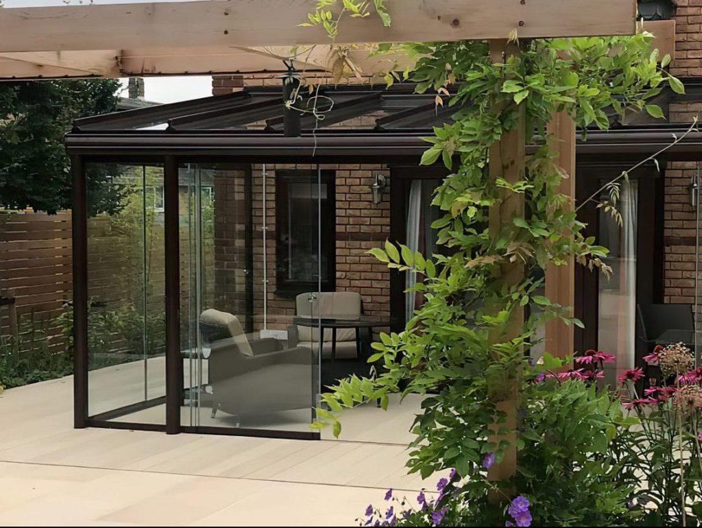 Glass garden Room install in Enfield